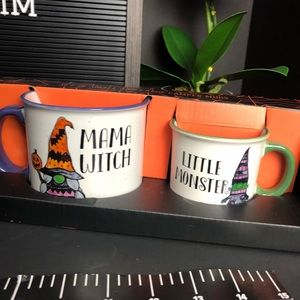 Other - NEW Mama witch & little monster matching cups